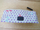 Radley Heart Hibbert Dog Print Pencil Case Glasses Cosmetic Creamy Yellow XMAS!!