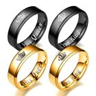couples rings - 2 Color Stainless Steel His Queen and Her Queen Couple Lovers Rings Widding Gift