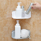 Внешний вид - Plastic Suction Cup Bathroom Kitchen Corner Storage Rack Organizer Shower Shelfs