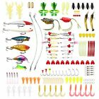 Hpory Fishing Lure Set 140 PCS Tackle Baits Kit in Box Crankbait Minnow Frog for