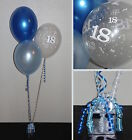 50th MALE BALLOON KIT - PARTY - BLUE - Helium DIY Party Decoration Kit Clusters