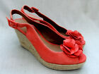 NEW CLARKS SINITTA BAHAMA WOMENS ORANGE SUEDE SHOES SANDALS SIZE 6 / 39.5