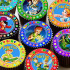 PETER PAN MIXED COLOURFUL HAPPY BIRTHDAY EDIBLE CUPCAKE TOPPER DECORATION