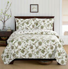Relaxing Carrie Floral Quilted Coverlet Set image