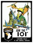 101st Airborne Air Assault Screaming Eagles 1974 Recruitment Poster