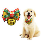 Christmas Adjustable Pet Cat Dog Neck Bowtie Bowknot Bell Bow Tie Collar + Bell