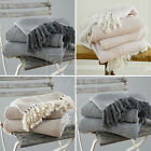 Herringbone Two Tone 100% Natural Cotton Chair Sofa Couch Blanket Throw, 3 Sizes
