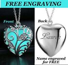 GLOW HEART LITTLE MERMAID Necklace + FREE NAME ENGRAVED