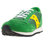 Saucony Jazz Original Vintage Kids Green Yellow Walking Trainers New Style