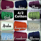 *FREE SHIP* Soft Rich 4/2 Cotton Cone Yarn Knit Weave Crochet