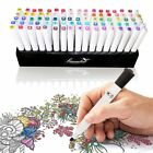 UK Set of 80 Colour Marker Pen Twin Tip Touchnew Graphic Art Sketch Broad Fine