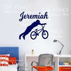 Bmx Bike Tricks Bikers Wall Personalized Custom Name Vinyl Wall Decal Sticker A