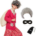 CHILDRENS KIDS GIRLS GRANNY PINK FANCY DRESS COSTUME OUTFIT BOOK WEEK DAY