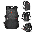 "Waterproof Men Travel Backpack 15"" Laptop Rucksack Outdoor School Bag Swiss Pack"