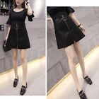 Vogue Women's Slimfit Faux Pu Leather Casual Skirts Party Clubwear Sexy Dresses