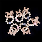 Wooden Stroller Toy Animal Shaped Jewelry Baby Teething Car Seat Rattl FO