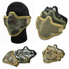 Airsoft Steel Mesh Half Face Mask Tactical Protect Strike Paintball Halloween FO