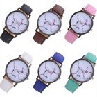 Fashion New Women 's Leather Band Analog Quartz Round Wrist Watch Watches