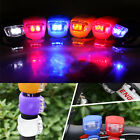 2 Led Silicone Mountain Bike Bicycle Front Lights Set Saftey Cycle Light New