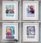 Personalised Disney Frozen Elsa Anna Olaf Picture Print  Bedroom Wall Decor Gift