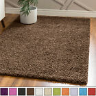 SHAGGY RUGS SMALL/LARGE SOFT PLAIN SUPER FLOOR MATS LIVING ROOM STYLISH CARPETS