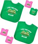 BabyPrem Baby Clothes Gifts for Twins Two Peas in Pod Feeding Bibs One Size