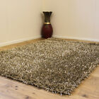 NEW BEAUTIFUL 3CM THICK PILE SHINY BEIGE COLOR SHIMMER MODERN SHAGGY RUG ON SALE