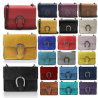 Glamexx24 Genuine Leather Clutch Bag Evening Bag Chain Handbag Made in Italy