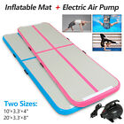 10/20FT Inflatable Mat Air Track Gymnastics Tumbling Airtrack Floor GYM w/ Pump image