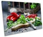 Spices Herbs Kitchen Cooking Picture SINGLE CANVAS WALL ART Print
