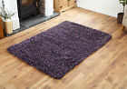 SHAGGY WOOL RUG SMALL MEDIUM 7CM THICK PILE MODERN PURPLE DISCOUNT RUG FOR SALE