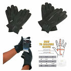 Mens Real Leather Smartphone Dress Gloves for Driving Touchscreen iPhone Android