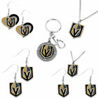 Vegas Golden Knights swirl heart logo earring necklace keychain PICK AN ITEM