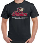 Indian Motorcycle Pioneer Mens Biker T-Shirt Motorbike Bikie Cafe Racer