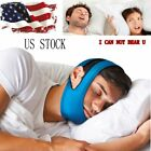 Snore Stop Belt Anti Snoring Cpap Chin Strap Sleep Apnea Jaw Solution TMJ BLUE on eBay