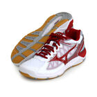 Mizuno Japan V1GA1840 White Red Men's Wave Super Sonic Low Volleyball Shoes