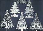 2 GROUPS COMBINED MERRY CHRISTMAS TREES DIE CUTS* SUB-SETS LOTS 4 - 12 PCS. READ