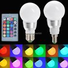 E27/E14 10W RGB LED Light Color Changing Lamp Bulb 85-265V With Remote FF 01