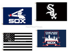 Chicago White Sox Flag 100D Polyester 3x5ft Mancave Outdoor Indoor Baseball NEW!
