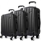 "20-24-28"" KONO VERTICAL STRIPE HARD SHELL 3 PIECE LUGGAGE SET LIGHTWEIGHT K1773L"