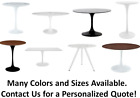 High-End Tulip Table Replica Round Coffee/Dining Table, Black or White, Saarinen