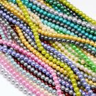 3mm Glass Pearl Round Beads Strands Cotton Cord Threaded Jewellery Making 135pcs