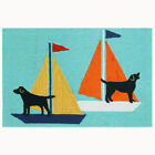 Trans-Ocean Front Porch Rug - Sailing Dogs