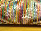 Indian Bangles in Multicolours - Set of 12 bangles