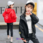 2018 New Spring Kids Young Girls Hooded Jacket Outwears Casual Smile Fashion