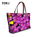 Floral Print Handbags Casual Shoulder Bags Shopping Hobo Tote Outdoor for Women