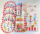 Circus Carnival Party Tableware Plates Cups Napkins etc - choose your Item