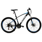 26' Mountain Bike Bicycle with Steel Frame 21 Speed Disc Brakes Front Suspension