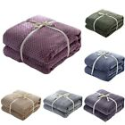 New 70*100CM Soft Solid Fleece Blanket Cuddly Throw Rug Sofa Bedding Warm XXF image