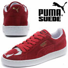 PUMA Suede Monster Leather Womens Jaws Cat Trainers Mens Retro Shoes Red UK